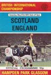 Sat 27 May 1972  Scotland 0 England 1